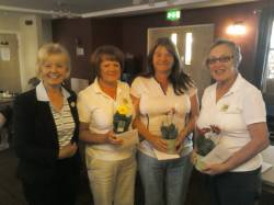 Winners of the County 3 Ball Alliance - Barbara Sanderson, Kim Spearing and Lynda Dunne from Beedles Lake
