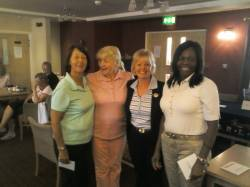 3rd place in the County 3 Ball Alliance - Gaynor Swingler, Barbara Wright and Stella Ballard from Glen Gorse