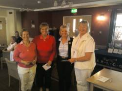 2nd place in the County 3 Ball Alliance - Terri Wills, Angela Wright and Alison Seddon from Park Hill