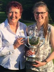 County Champion Ellie York with County President Anita Higginson