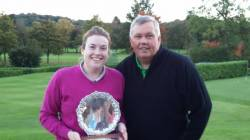 2016 Baxter Trophy winners - Carolyn Parkes-Walley and David Gibson of Cosby Golf Club