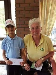 Elexis Brown of The Leicestershire won the 13 hole stableford competition with 45 points