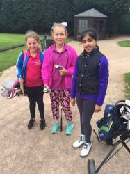 On the tee and making friends
