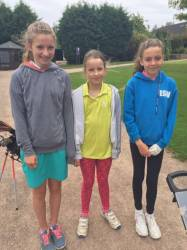 Heather Gemma and Emily at the first tee