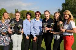 County President Anita with Championship Trophy winners