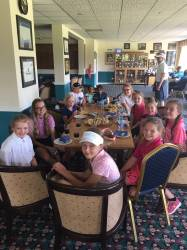 The refreshments were needed after a hot day on the course!