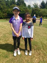 Edie and Eesha on tour at Lutterworth!,