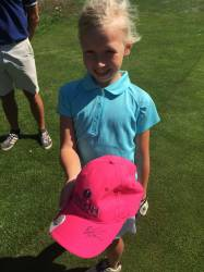 Henrietta got her cap signed by Brooke Anderson at Lytham!!