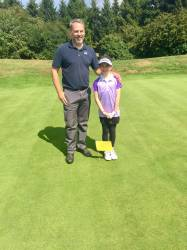Edie and Dad On the 8th green!!!
