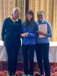 Sophie gets her prize from Lincs 