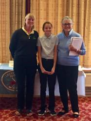 Megan gets her prize from The Lincs 