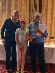 Ella in the winners enclosure with
