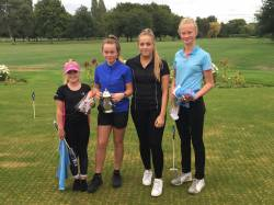 Captain Claire with winners of the main 