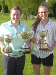 County Champion Caz Parkes-Walley and Runner up Ellie York