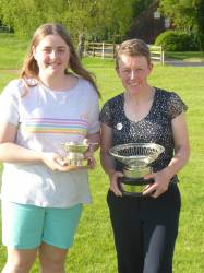 Kirsten Thorpe and Cath Arter, Runner up and Winner of the Russell Trophy