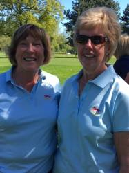 Tournament organisers Lynn Gray (left) and Anne Bluck (right) from Glen Gorse