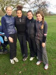 Holly, Francesca,Victoria & Eleanor after their matches during coaching with Kym