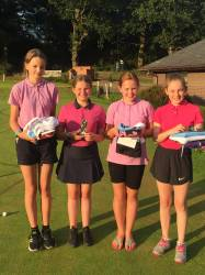 9 hole winners - Amelie in Star position with Harriet & Megan in 2nd & 3rd place!! Lucy won the Putting prize & Megan also won Nearest the Pin - wow!!