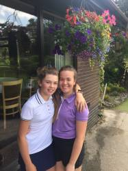 Eleanor & Vicky after a tough round!