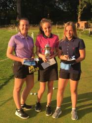 Trophy winner Emily W with runners up Victoria & Emily G