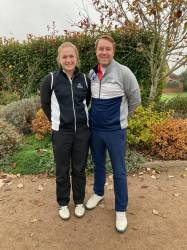 Semi finalists - Lucy Walton and Andrew Harding - Longcliffe Golf Club